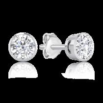 עגילי יהלומים Round