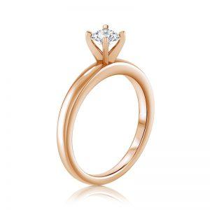 טבעת יהלום סוליטר Pomi
