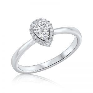טבעת יהלום עדינה Pola
