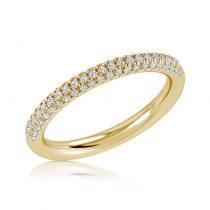 טבעת יהלומים three line
