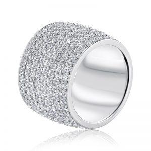 טבעת שורות יהלומים Alexis