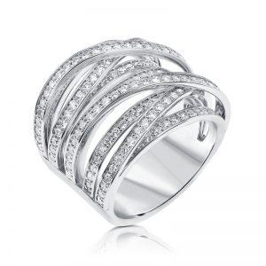 טבעת יהלומים Rainbow
