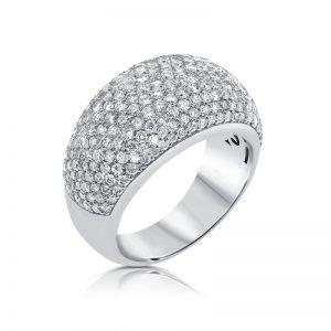 טבעת יהלומים pavie
