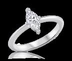 טבעת אירוסין עדינה marquise