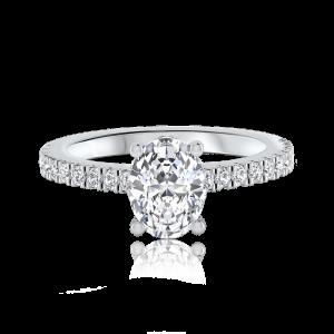 טבעת אירוסין עדינה זהב לבן Nicole