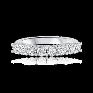 טבעת יהלומים שורה Eight