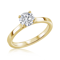 טבעת אירוסין סוליטר זהב לבן Marten