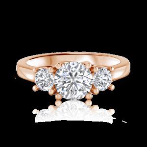 טבעת יהלומים Open oyster
