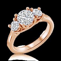 טבעת יהלומים יוקרתית Open oyster