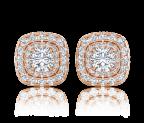 עגילי יהלום צמודים Jessy