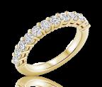 טבעת יהלומים שורה Eleven
