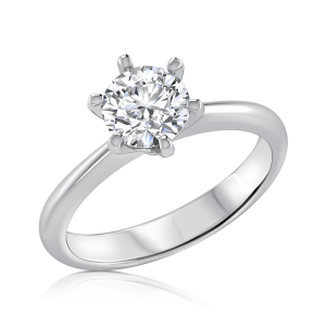טבעת אירוסין זהב לבן milan