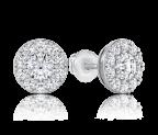 עגילי יהלומים צמודים Scaly