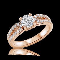טבעת יהלומים Wave
