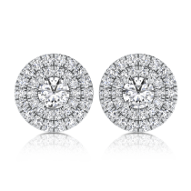 עגילי יהלומים E Lian