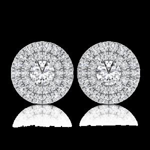 עגילי יהלומים צמודים E Lian