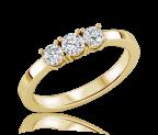 טבעת יהלומים threeo