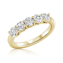 טבעת יהלומים שורה Anna
