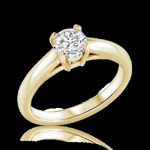 טבעת יהלום סוליטר Fox