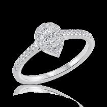 טבעת אירוסין pear