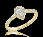 טבעת אירוסין יוקרתית pear