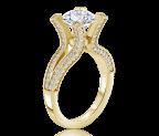 טבעת אירוסין זהב צהוב Paris