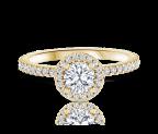 טבעת אירוסין זהב צהוב Helen