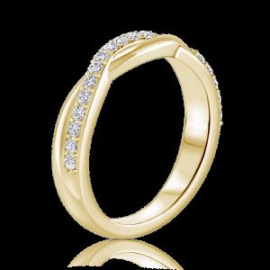 טבעת יהלומים שורה Xlove