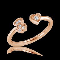 טבעת יהלומים Bear hart