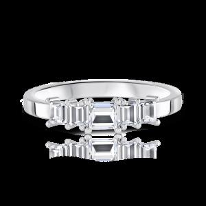 טבעת יהלומים מעוצבת bageta