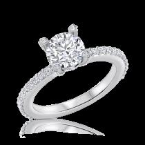 טבעת אירוסין זהב לבן Crown
