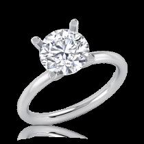 טבעת אירוסין סוליטר זהב לבן Lia