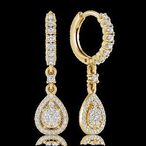 עגילי יהלום נתלים Souvenir