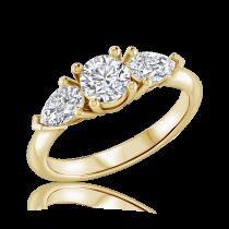 טבעת אירוסין זהב צהוב maya