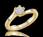טבעת אירוסין סוליטר טויסט יהלום Solo