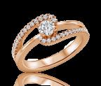 טבעת אירוסין טוויסט celeste