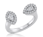 טבעת יהלומים מעוצבת Open Lee