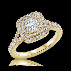 טבעת יהלום אירוסין Princesa