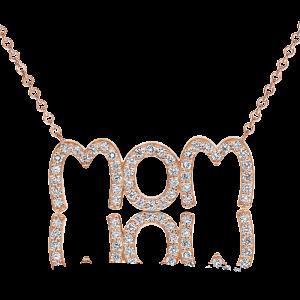 תליון יהלומים Mom