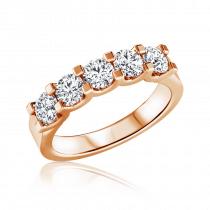טבעת שורה יהלומים Five kings