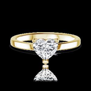 טבעת יהלום לב